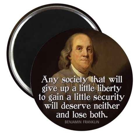 "Ben Franklin Quotes 2.25"" Magnet (10 pack)"