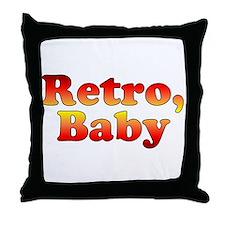 Retro, Baby Vintage 80's Styl Throw Pillow
