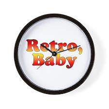 Retro, Baby Vintage 80's Styl Wall Clock