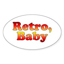 Retro, Baby Vintage 80's Styl Oval Decal