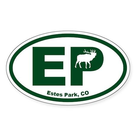 Estes Park Sticker (Oval)
