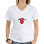 DENMARK SOCCER Women's V-Neck T-Shirt