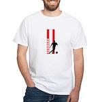 DENMARK SOCCER 3 White T-Shirt