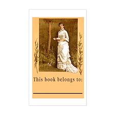 Beautiful Victorian BookPlate(Lg 3x5 Sticker)