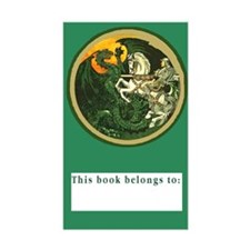 "St George Slays Dragon BookPlate (Lg 3""x5"" Decal"