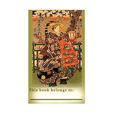 "Lg 3""x5"" Sticker Japanese Geisha Book Plate"