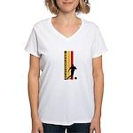 GERMANY FOOTBALL 3 Women's V-Neck T-Shirt