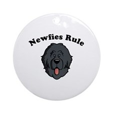 Newfies Rule Ornament (Round)