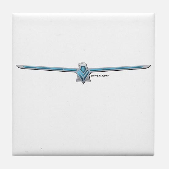 66 Thunderbird Emblem Tile Coaster