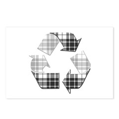Recycle Flannel Pattern Postcards (Package of 8)