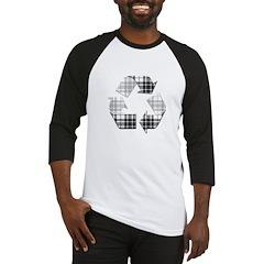 Recycle Flannel Pattern Baseball Jersey