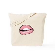 Sexy Biting Lips Tote Bag