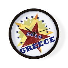 GREECE FOOTBALL 4 Wall Clock