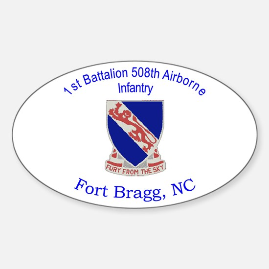 1st Bn 508th ABN Sticker (Oval)