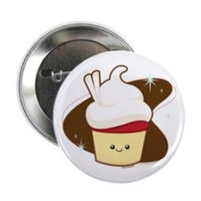 "Red Velvet Cupcake 2.25"" Button"