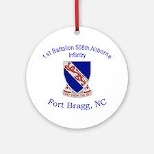 1st Bn 508th ABN Ornament (Round)