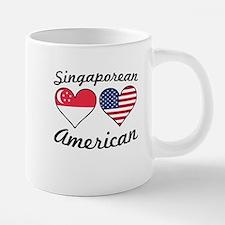 Singaporean American Flag H 20 oz Ceramic Mega Mug