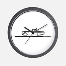 1956 Thunderbierd Hard Top Wall Clock