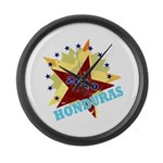 HONDURAS FUTBOL 4 Large Wall Clock