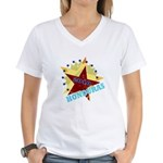 HONDURAS FUTBOL 4 Women's V-Neck T-Shirt