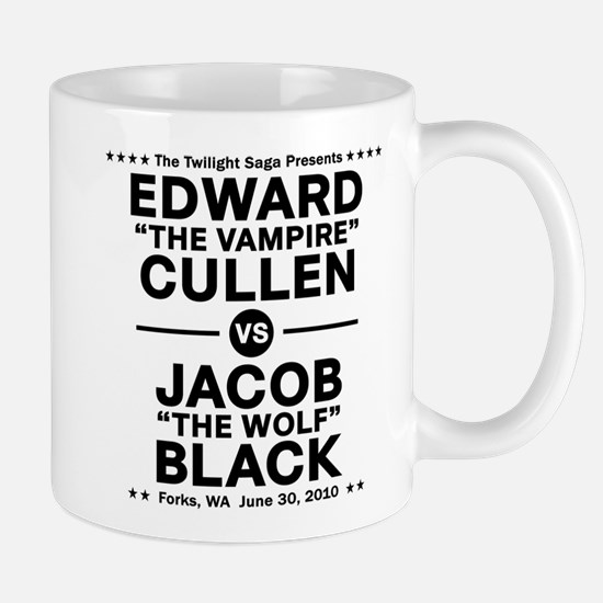 Edward vs Jacob - Black Mug