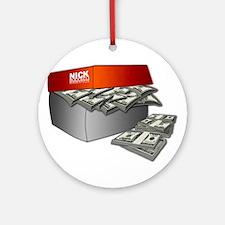 Shoe Box Cash Money Ornament (Round)