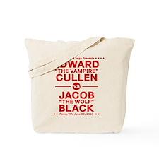 Edward vs Jacob - Red Tote Bag