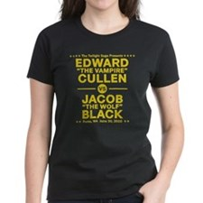 Edward vs Jacob - Gold Tee