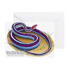 San Francisco Garter Snake Greeting Card