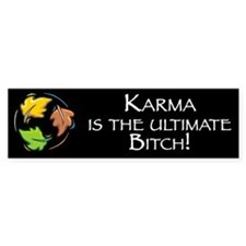 Karma is the Ultimate Bitch Bumper Bumper Sticker