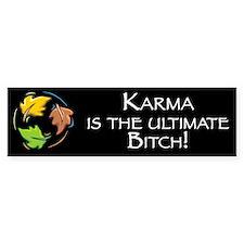 Karma is the Ultimate Bitch Bumper Bumper Sticker