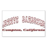 Jerry's Barbecue Sticker (Rectangle 10 pk)