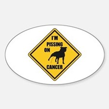 Piss On Cancer Sticker (Oval)