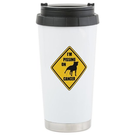 Piss On Cancer Stainless Steel Travel Mug