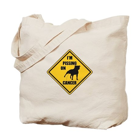 Piss On Cancer Tote Bag