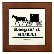 Keepin' it rural ~ Framed Tile