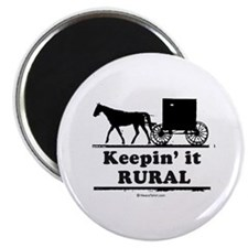 "Keepin' it rural ~ 2.25"" Magnet (10 pack)"