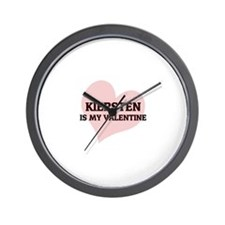 Kiersten Is My Valentine Wall Clock