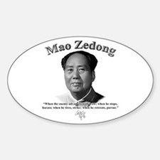 Mao Zedong 01 Oval Decal