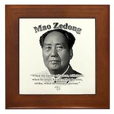 Mao Zedong 01 Framed Tile
