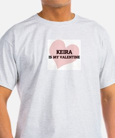 Keira Is My Valentine Ash Grey T-Shirt