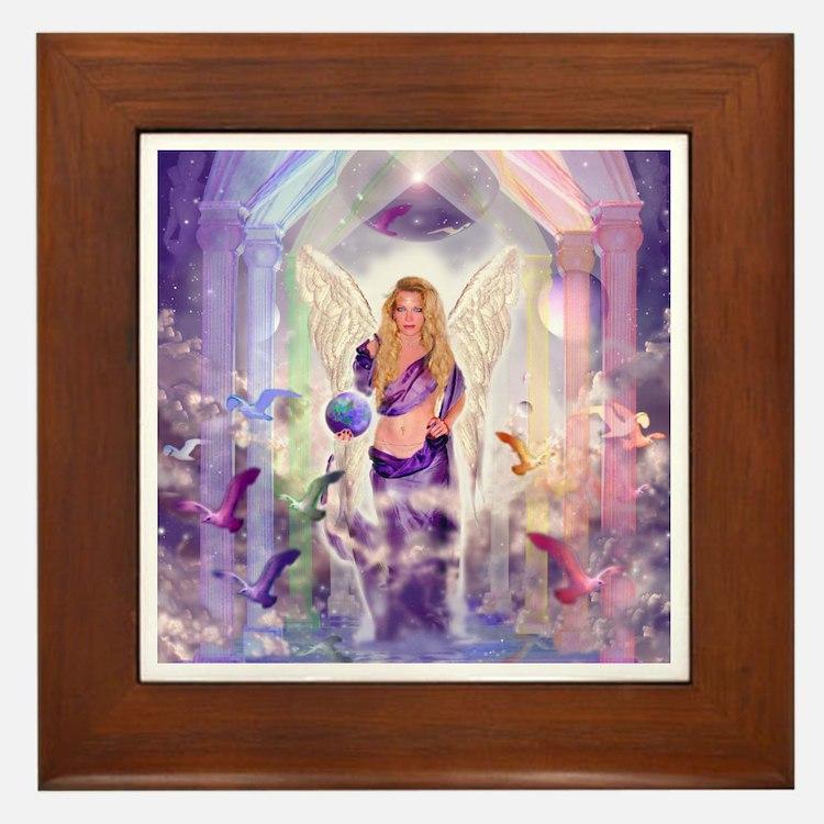Angel of Light Framed Tile