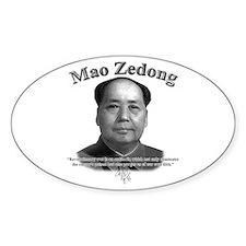 Mao Zedong 02 Oval Decal