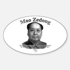 Mao Zedong 02 Oval Decal