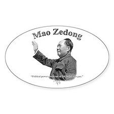 Mao Zedong 03 Oval Decal