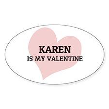 Karen Is My Valentine Oval Decal