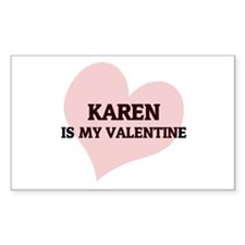 Karen Is My Valentine Rectangle Decal