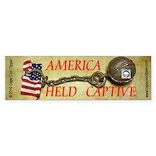 America Held Captive Bumper Bumper Sticker