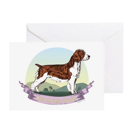 Welsh Springer Spaniel: Banne Greeting Card