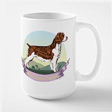 Welsh Springer Spaniel: Banne Large Mug